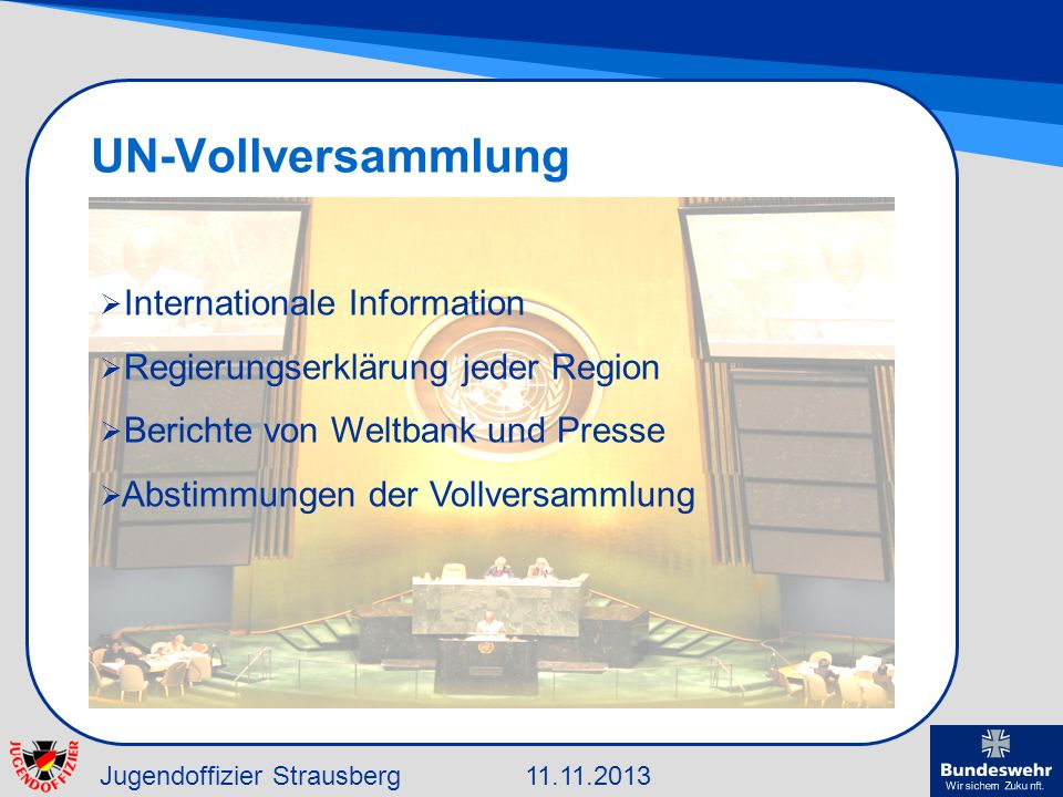 UN-Vollversammlung Internationale Information