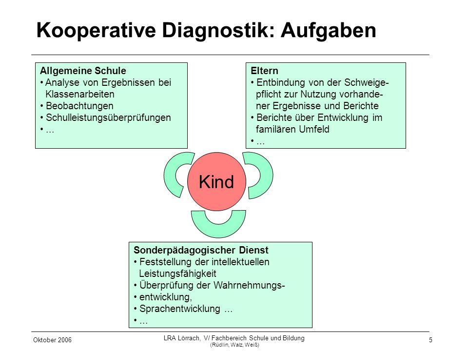 Kooperative Diagnostik: Aufgaben