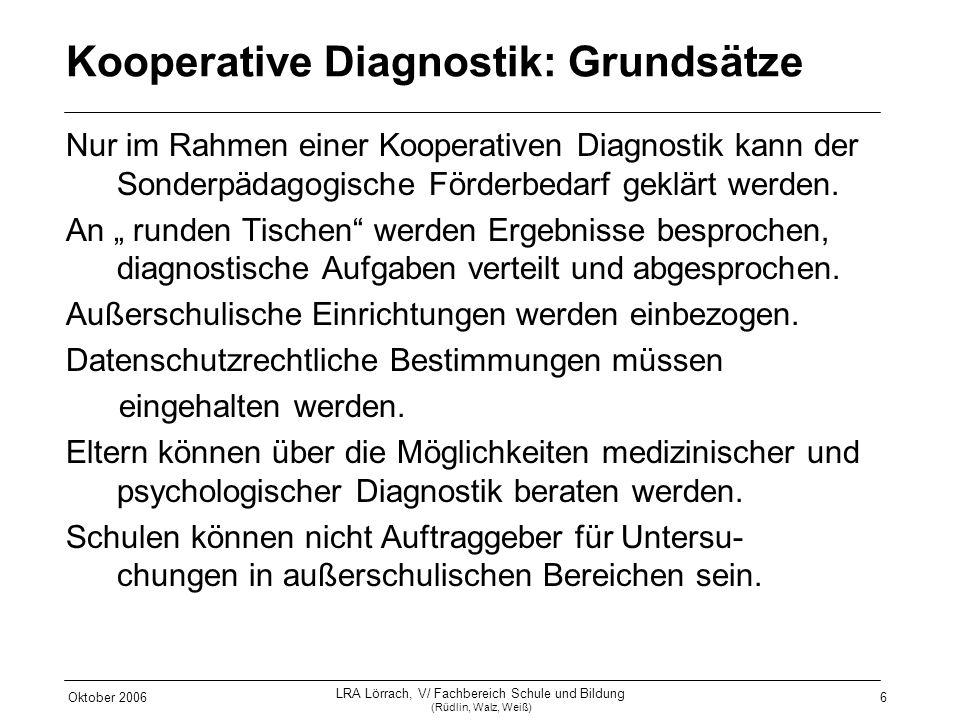 Kooperative Diagnostik: Grundsätze