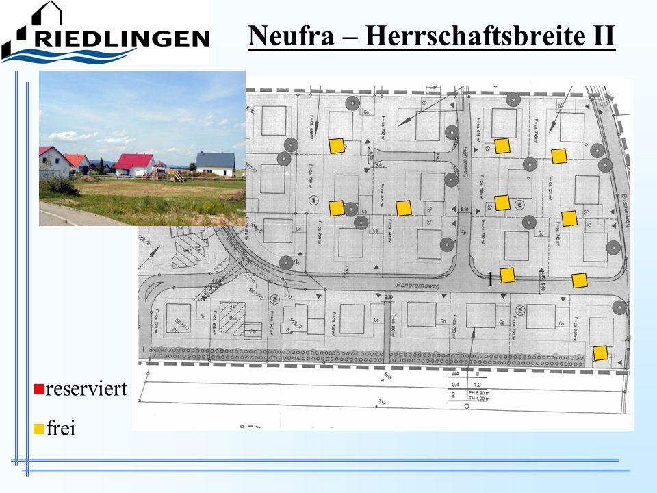 Neufra – Herrschaftsbreite II