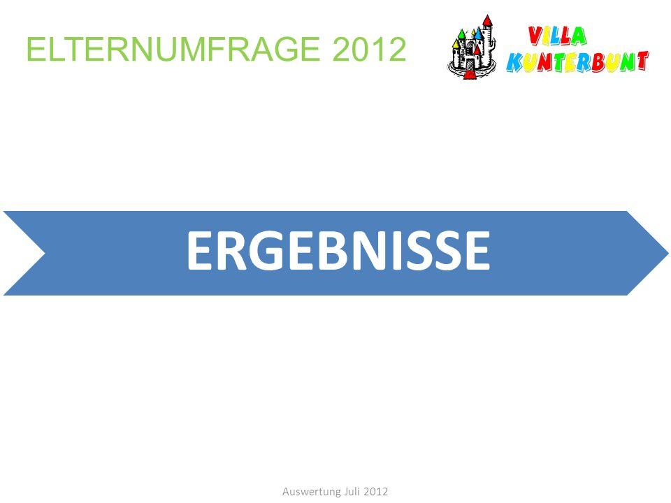 ELTERNUMFRAGE 2012 ERGEBNISSE Auswertung Juli 2012