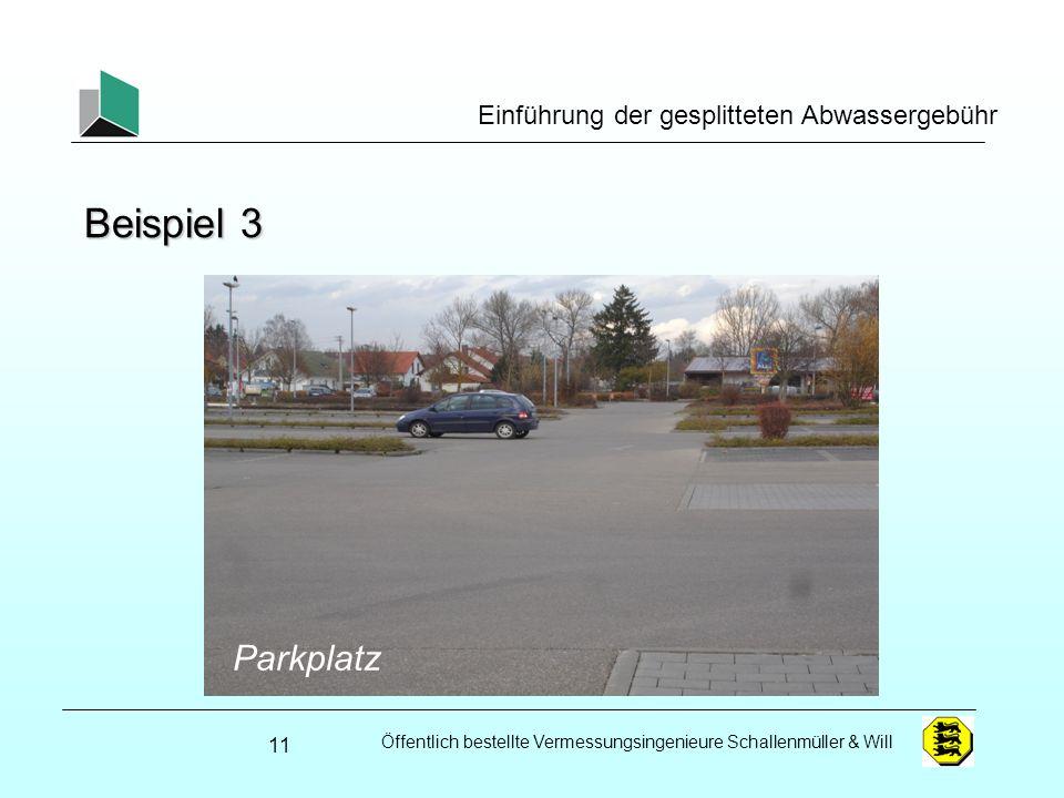 Beispiel 3 Garagenzeilen Parkplatz