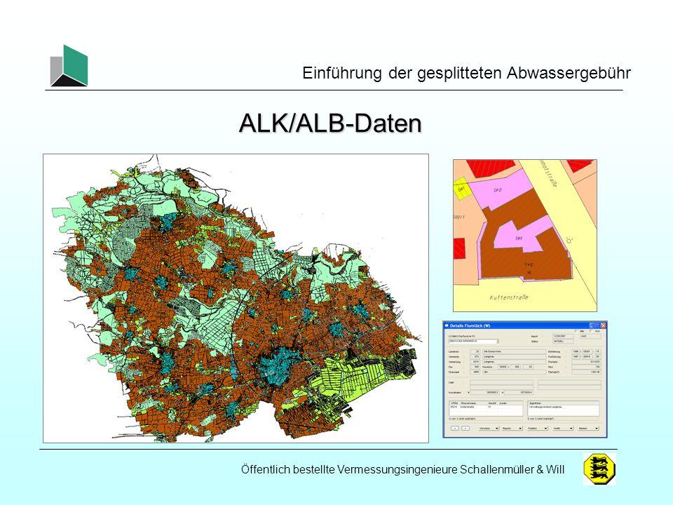 ALK/ALB-Daten Einführung der gesplitteten Abwassergebühr