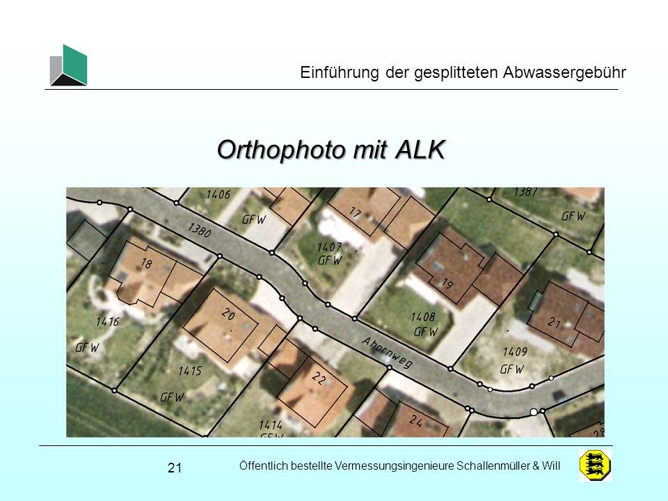 Orthophoto mit ALK Einführung der gesplitteten Abwassergebühr