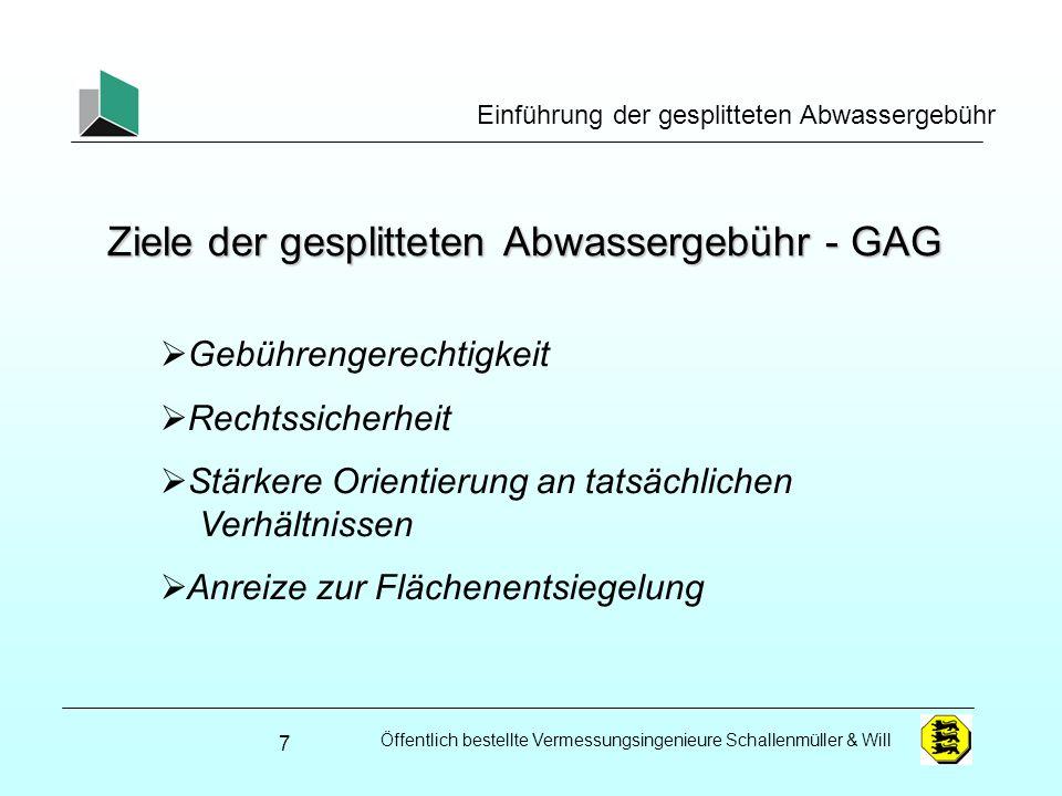 Ziele der gesplitteten Abwassergebühr - GAG