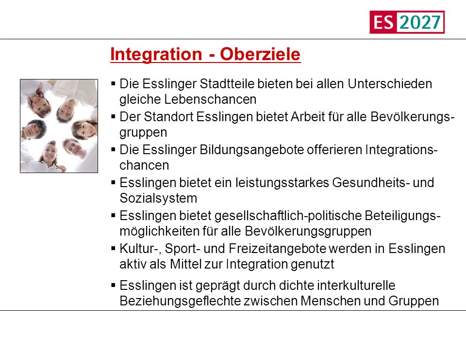 Integration - Oberziele