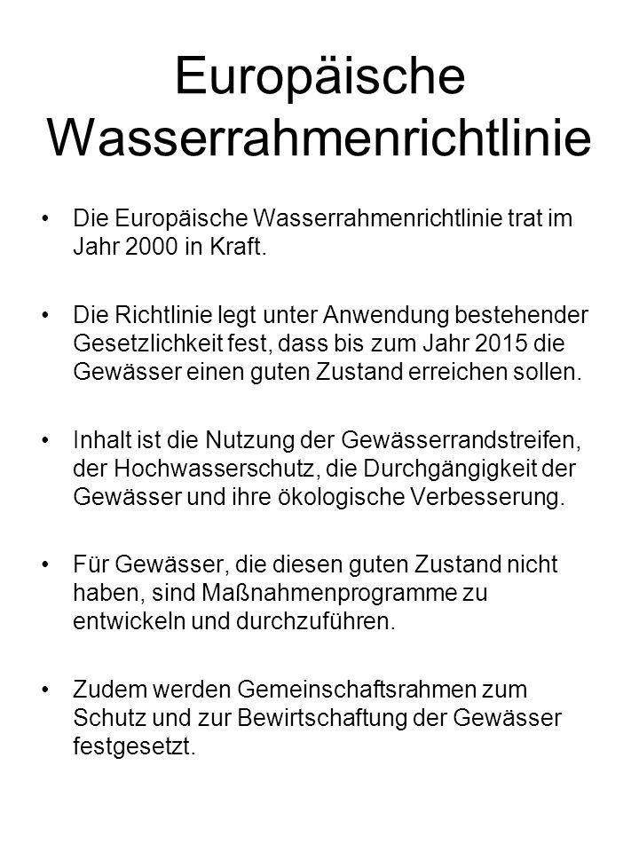 Europäische Wasserrahmenrichtlinie