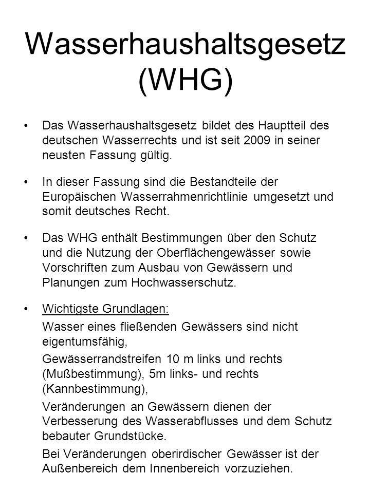 Wasserhaushaltsgesetz (WHG)