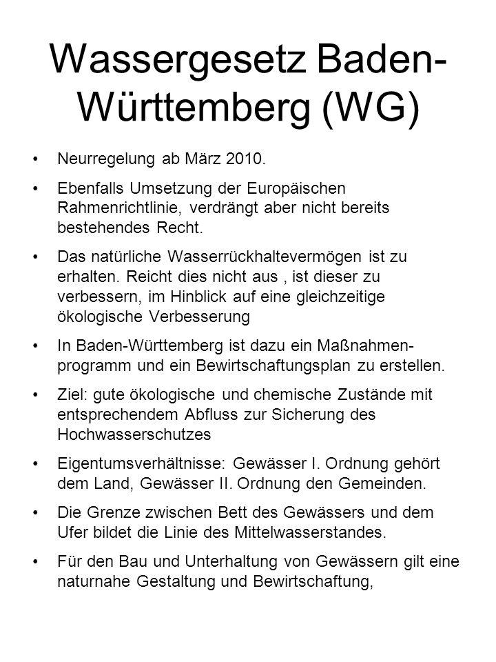 Wassergesetz Baden-Württemberg (WG)