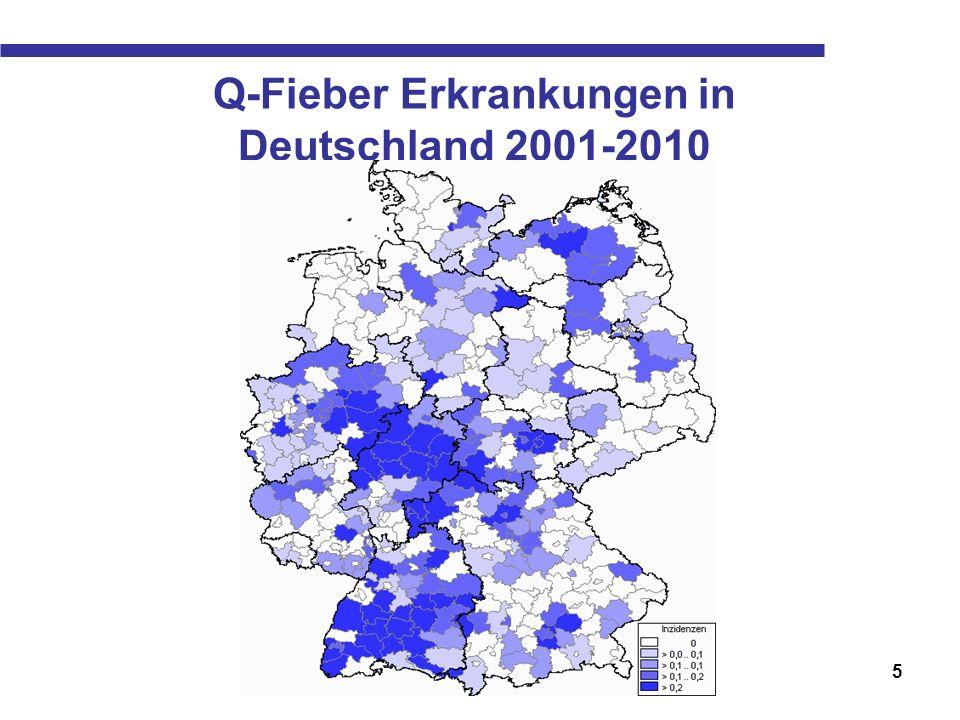 Q-Fieber Erkrankungen in Deutschland 2001-2010