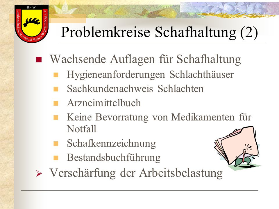 Problemkreise Schafhaltung (2)