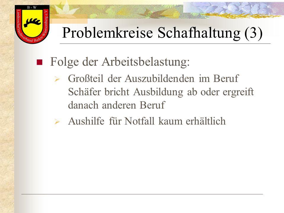 Problemkreise Schafhaltung (3)