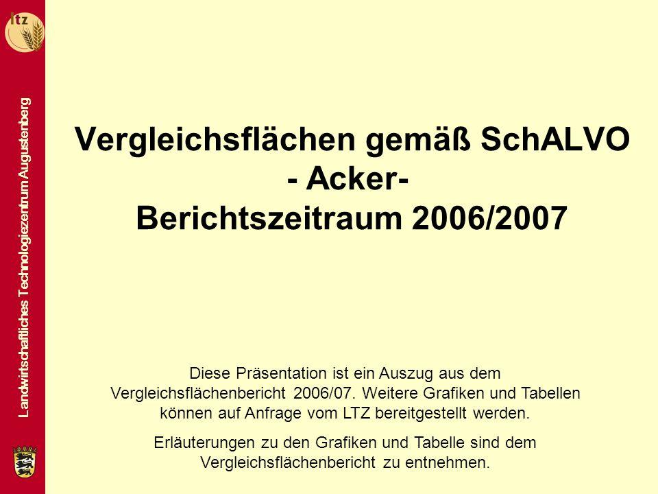 Vergleichsflächen gemäß SchALVO - Acker- Berichtszeitraum 2006/2007