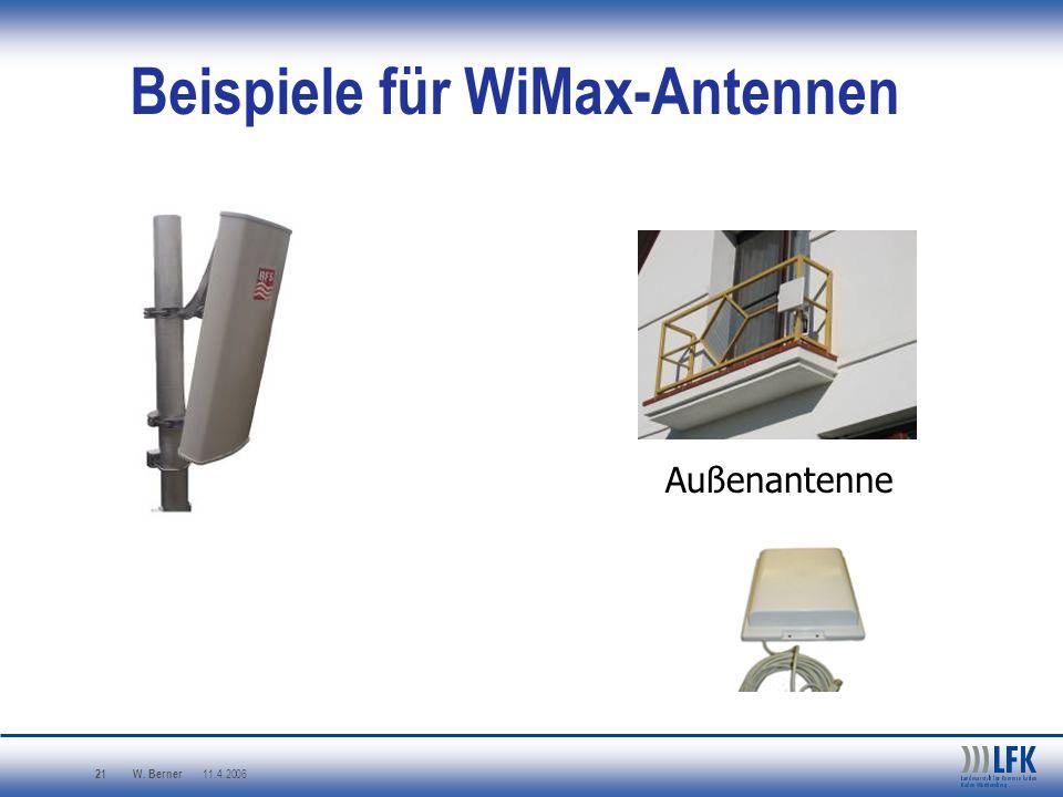 Beispiele für WiMax-Antennen