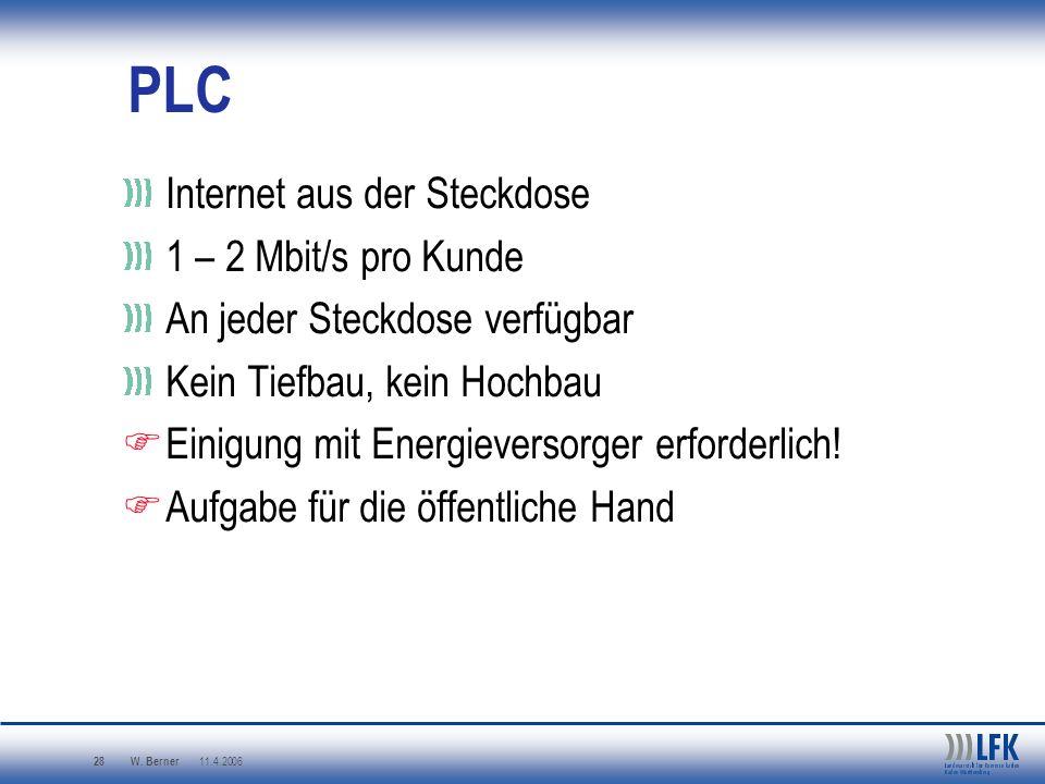 PLC Internet aus der Steckdose 1 – 2 Mbit/s pro Kunde