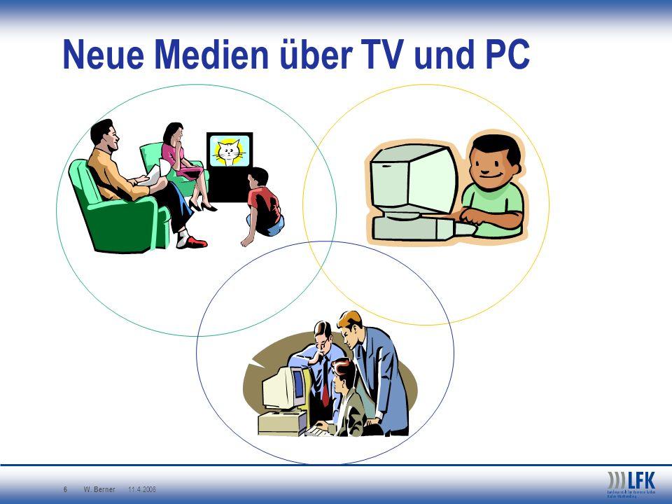Neue Medien über TV und PC