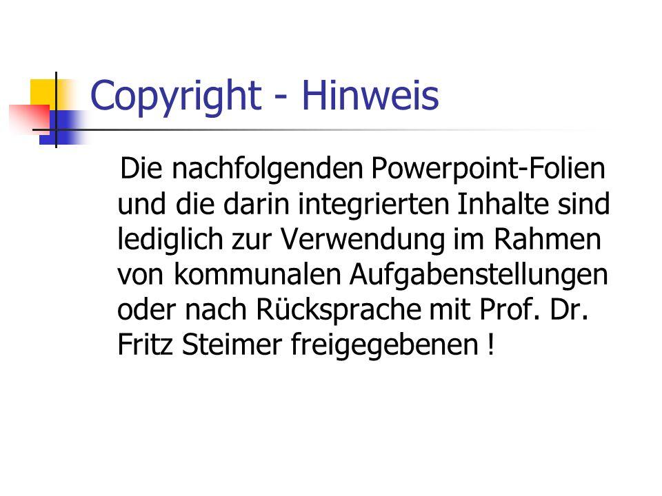 Copyright - Hinweis