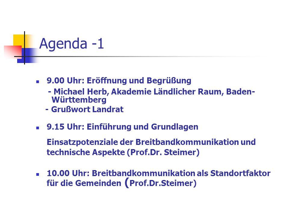 Agenda -1 - Michael Herb, Akademie Ländlicher Raum, Baden- Württemberg