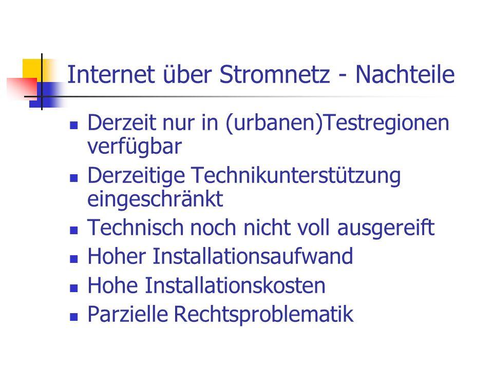 Internet über Stromnetz - Nachteile