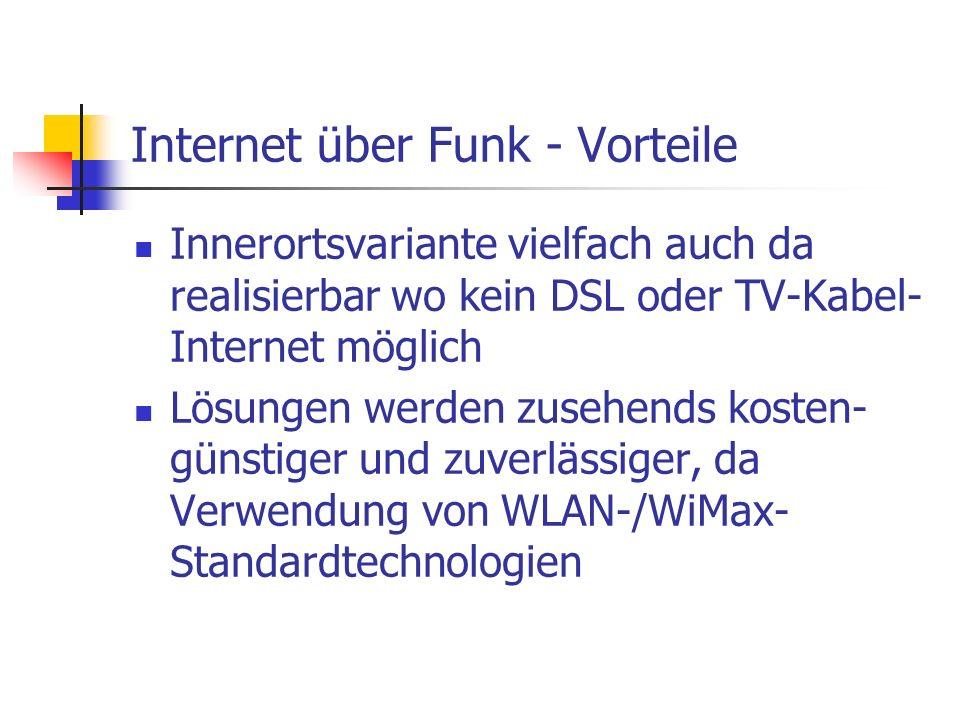 Internet über Funk - Vorteile