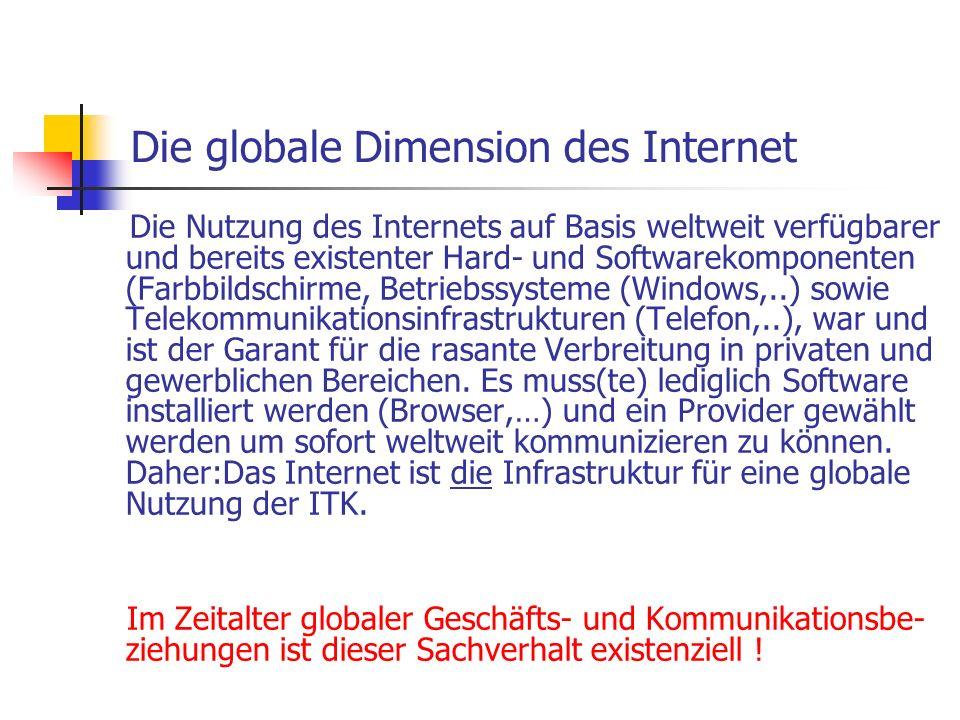 Die globale Dimension des Internet