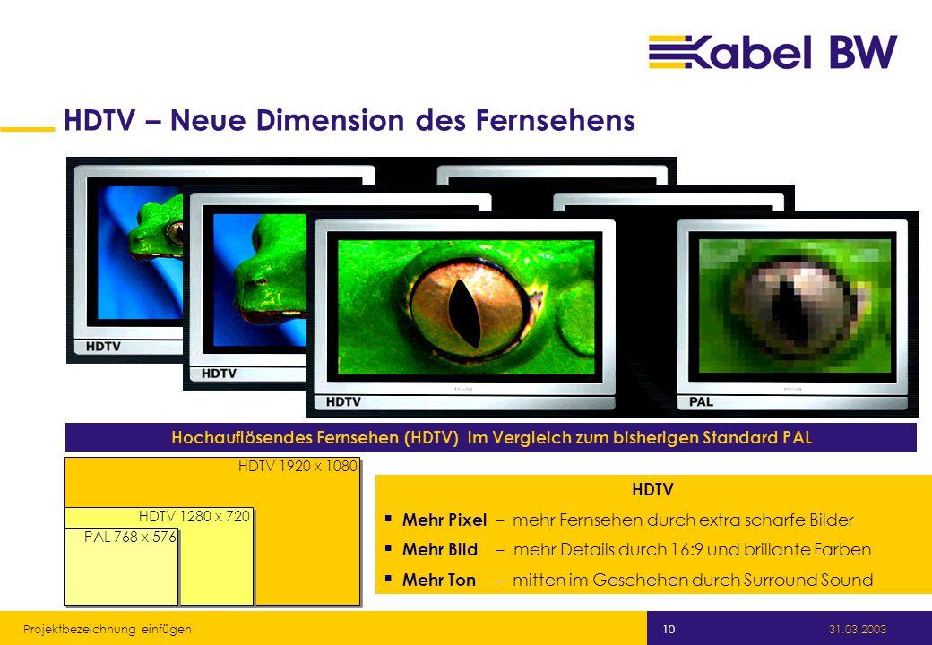 HDTV – Neue Dimension des Fernsehens