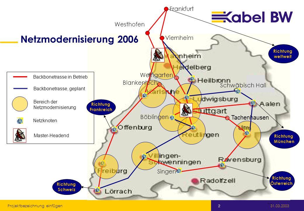 Netzmodernisierung 2006 Frankfurt Westhofen Viernheim Weingarten