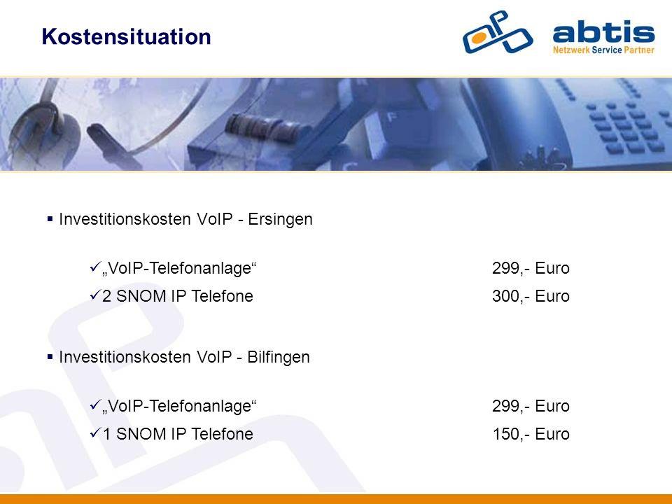 Investitionskosten VoIP - Ersingen