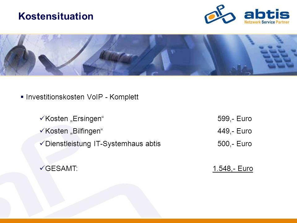 Investitionskosten VoIP - Komplett