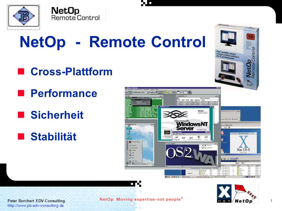 NetOp - Remote Control Cross-Plattform Performance Sicherheit