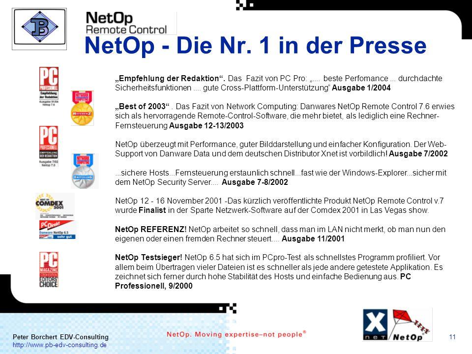 NetOp - Die Nr. 1 in der Presse