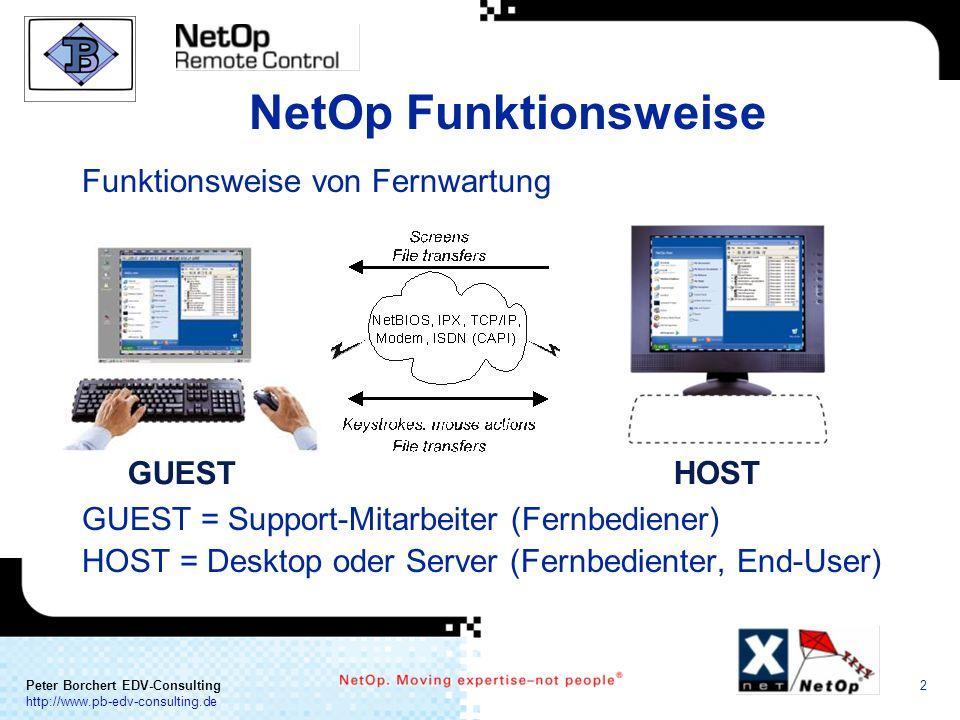 NetOp Funktionsweise Funktionsweise von Fernwartung