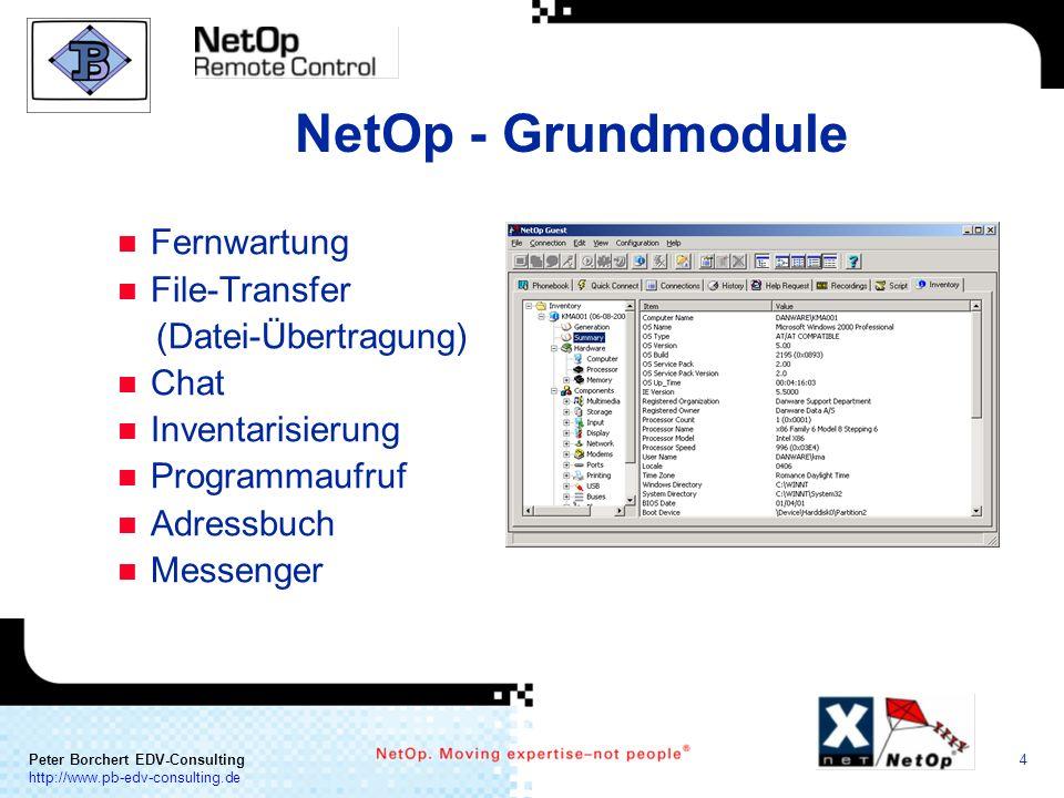 NetOp - Grundmodule Fernwartung File-Transfer (Datei-Übertragung) Chat
