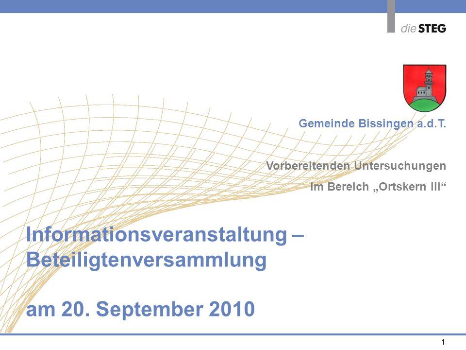 Informationsveranstaltung – Beteiligtenversammlung