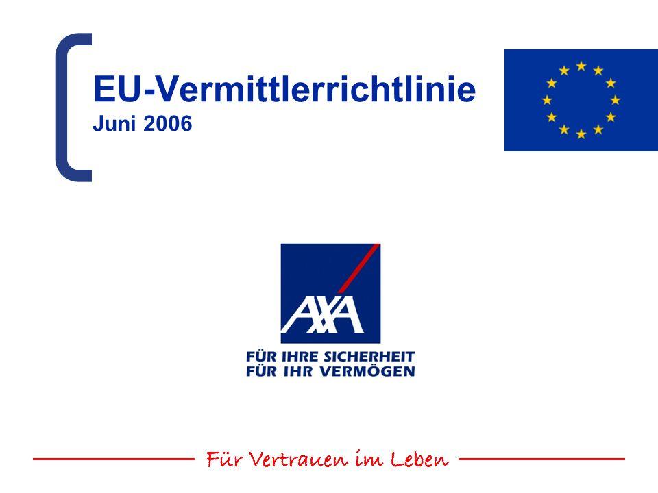 EU-Vermittlerrichtlinie Juni 2006