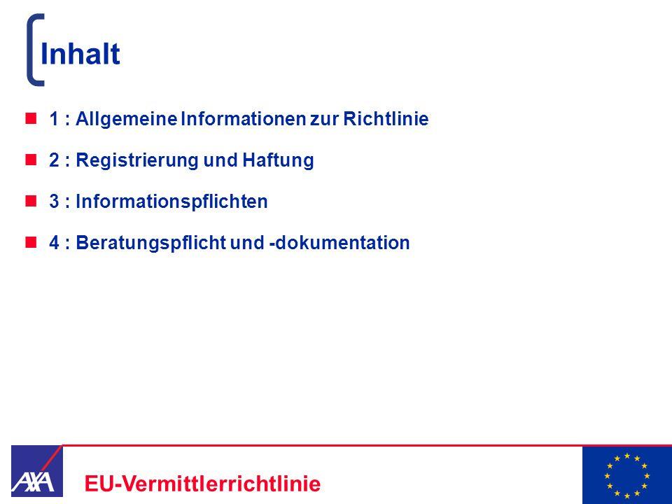 Inhalt 1 : Allgemeine Informationen zur Richtlinie