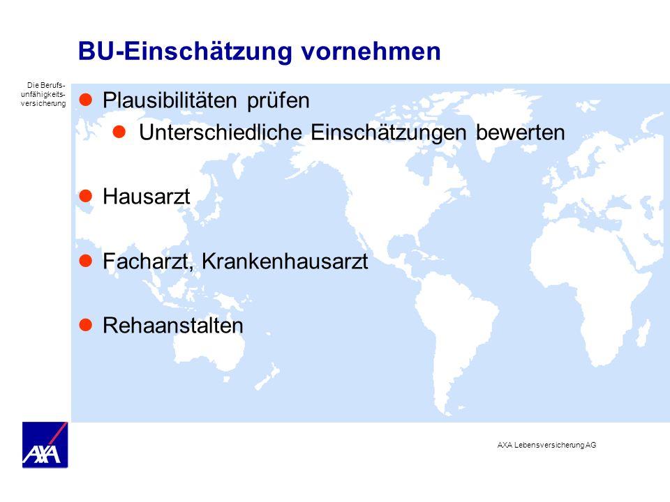 BU-Einschätzung vornehmen
