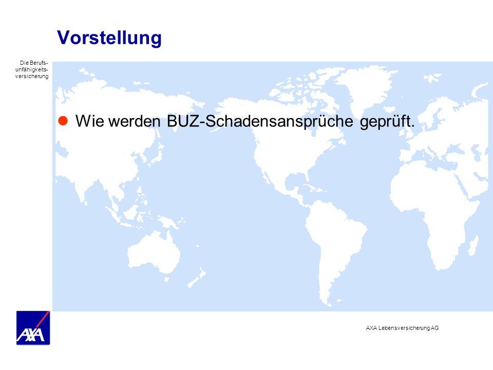Vorstellung Wie werden BUZ-Schadensansprüche geprüft.