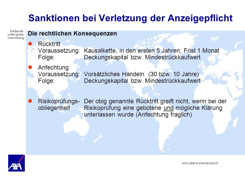 Sanktionen bei Verletzung der Anzeigepflicht