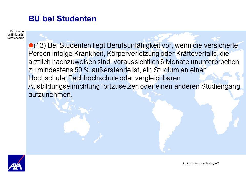 BU bei Studenten