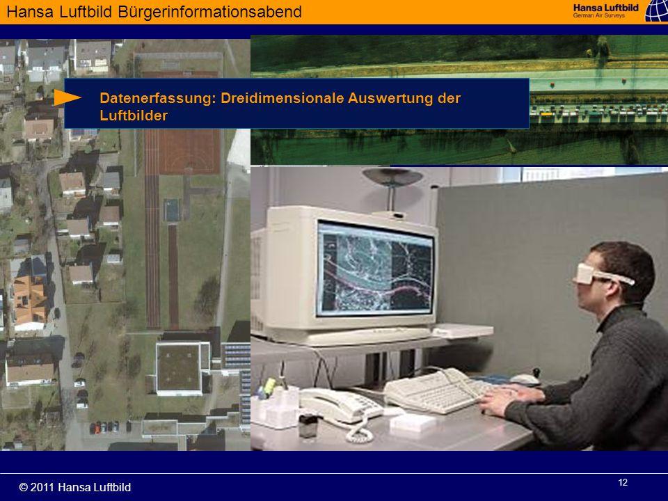 Datenerfassung: Dreidimensionale Auswertung der Luftbilder
