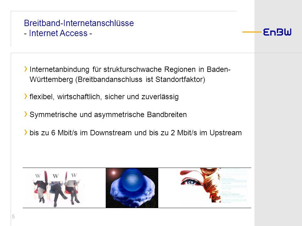 Breitband-Internetanschlüsse - Internet Access -