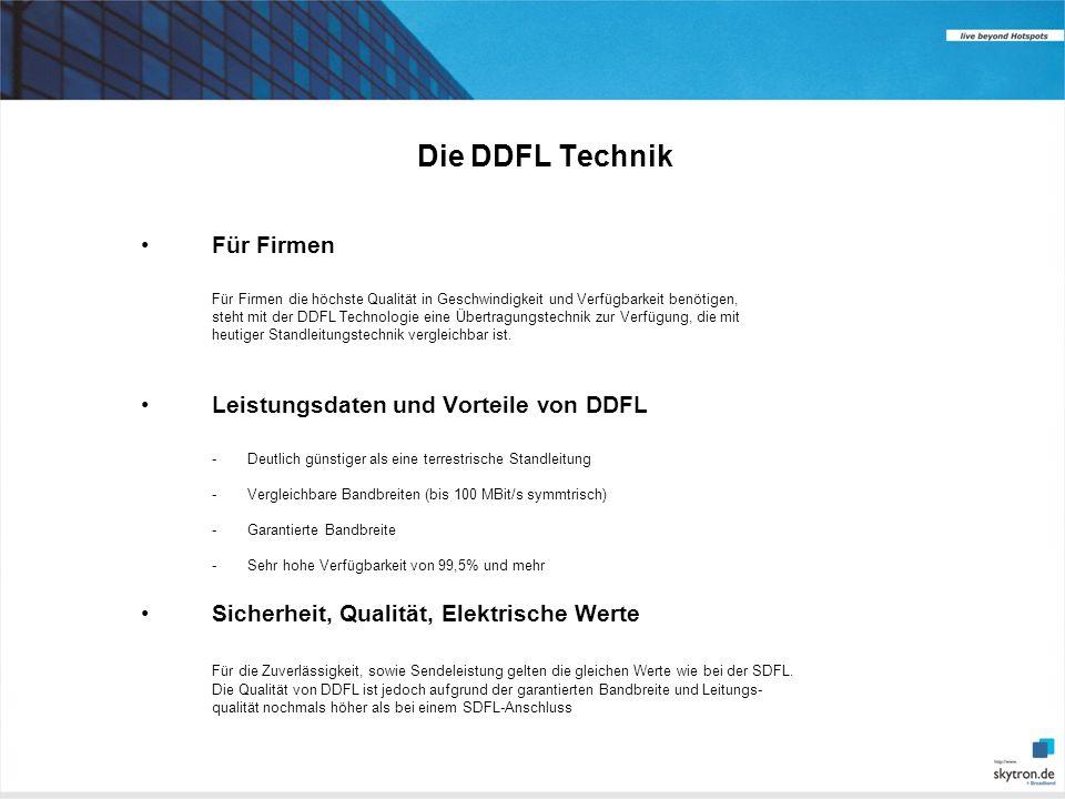 Die DDFL Technik Für Firmen Leistungsdaten und Vorteile von DDFL