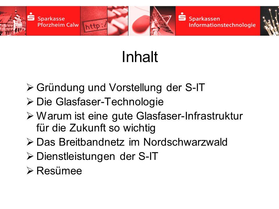 Inhaltsverzeichnis Inhalt Gründung und Vorstellung der S-IT