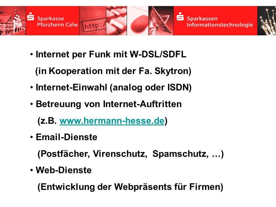 Internet per Funk mit W-DSL/SDFL