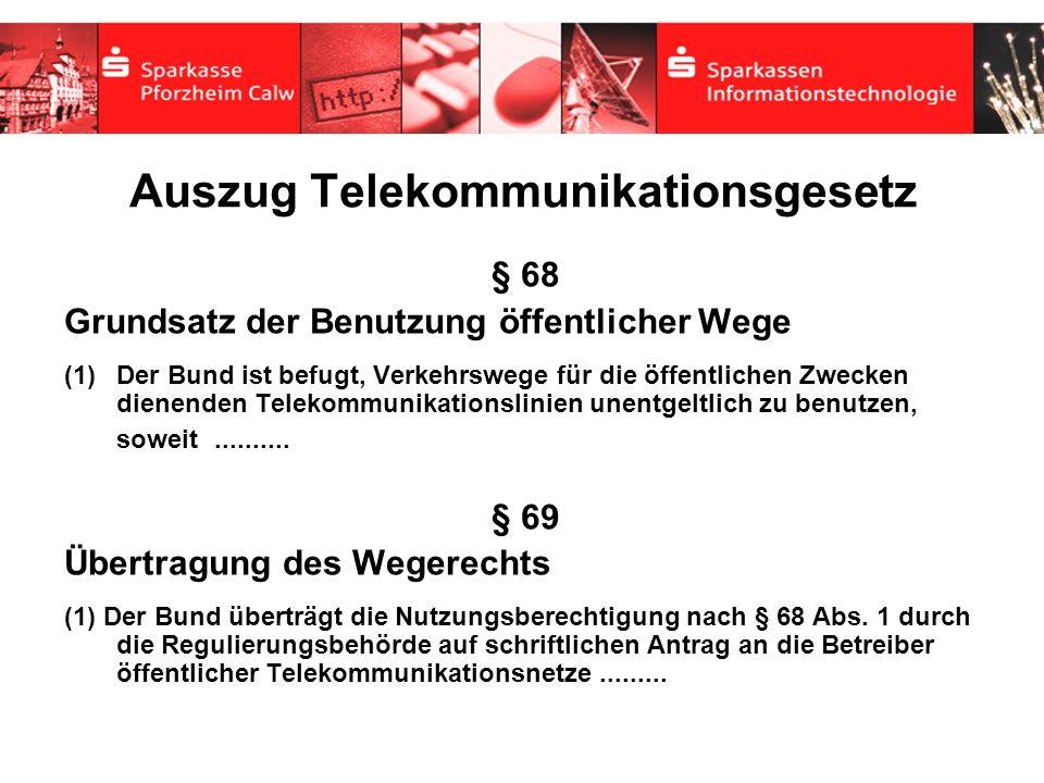 Auszug Telekommunikationsgesetz