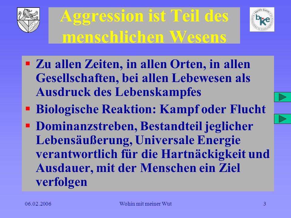 Aggression ist Teil des menschlichen Wesens
