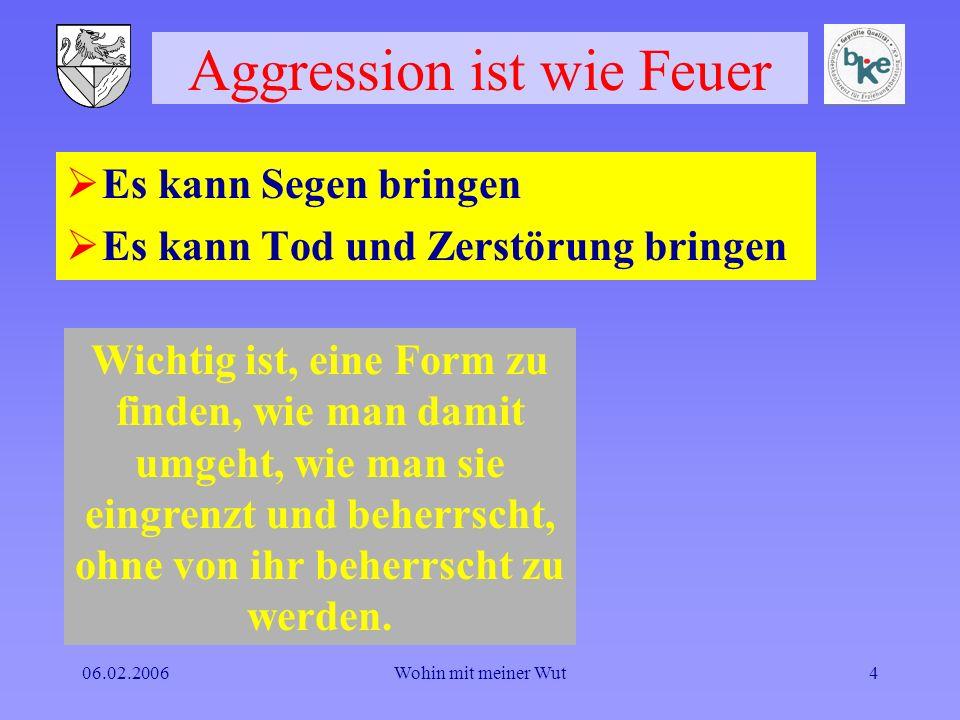 Aggression ist wie Feuer