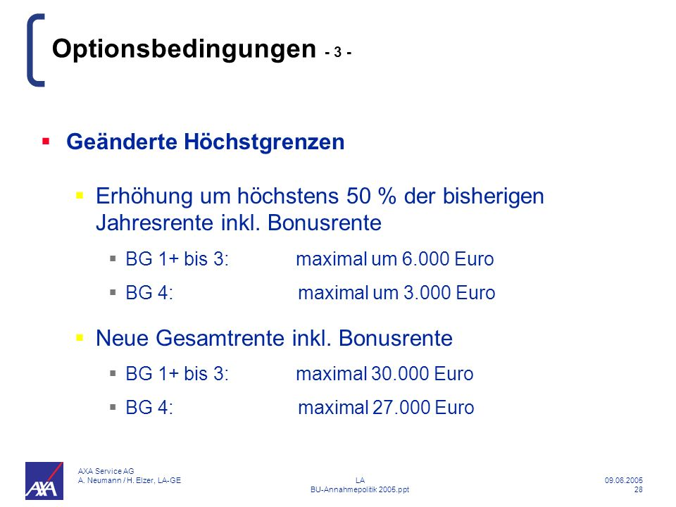 Optionsbedingungen - 3 -