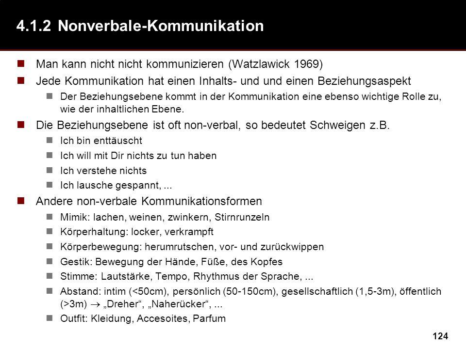 4.1.2 Nonverbale-Kommunikation